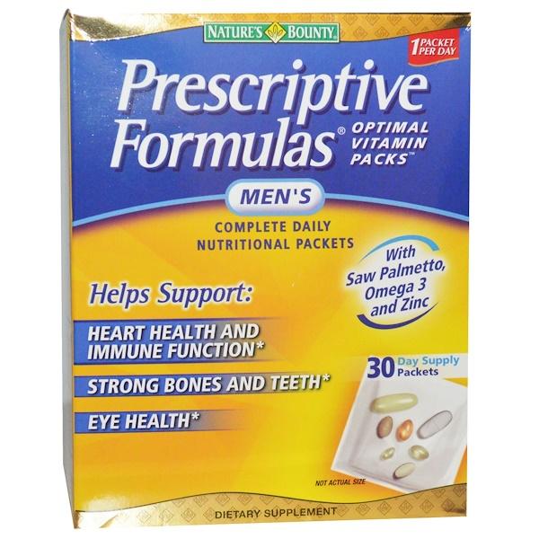 Nature's Bounty, Оптимальные витамины для мужчин, 30 пакетиков (Discontinued Item)