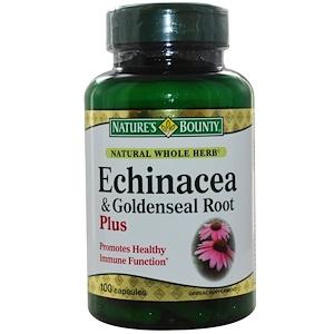 Натурес Баунти, Echinacea & Goldenseal Root Plus, 100 Capsules отзывы