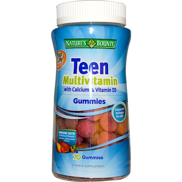 Nature's Bounty, Your Life Multi Teen Gummies Multivitamin with Calcium & Vitamin D3, 70 Gummies (Discontinued Item)