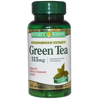 Nature's Bounty, Green Tea, 315 mg, 100 Capsules