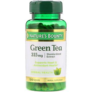 Натурес Баунти, Green Tea, 315 mg, 100 Capsules отзывы