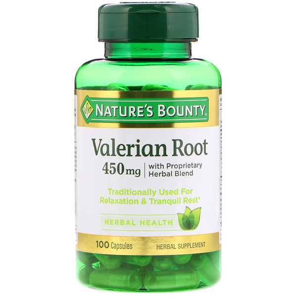 Valerian Root with Proprietary Herbal Blend, 450 mg, 100 Capsules