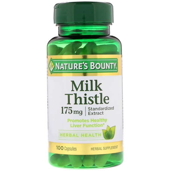Nature's Bounty, Milk Thistle (Cardo Mariano)175 mg, 100 Cápsulas (Discontinued Item)