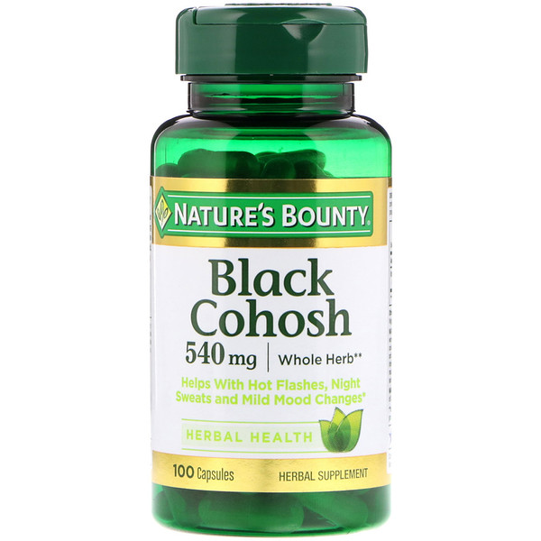 Nature's Bounty, Cohosh negro, 540 mg, 100 cápsulas