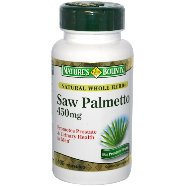 Nature's Bounty, Saw Palmetto, 450 mg, 100 Capsules (Discontinued Item)