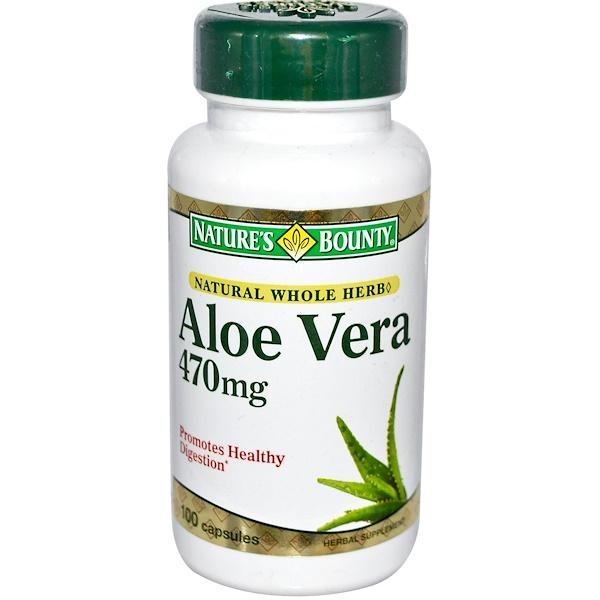 Nature's Bounty, Aloe Vera, 470 mg, 100 Capsules (Discontinued Item)