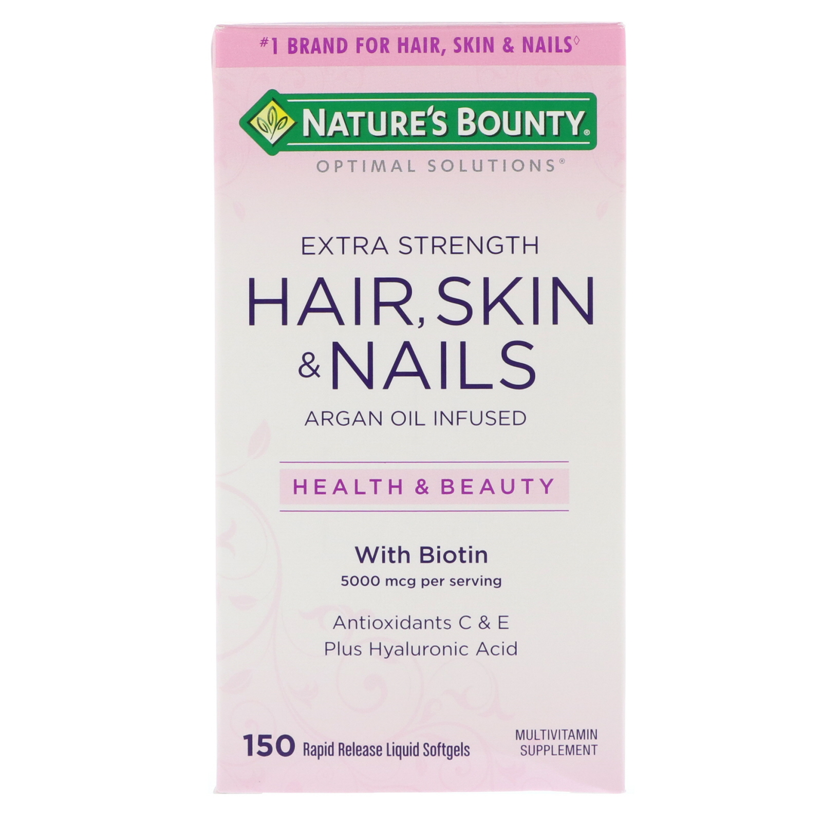 Nature S Bounty Optimal Solutions Extra Strength Hair