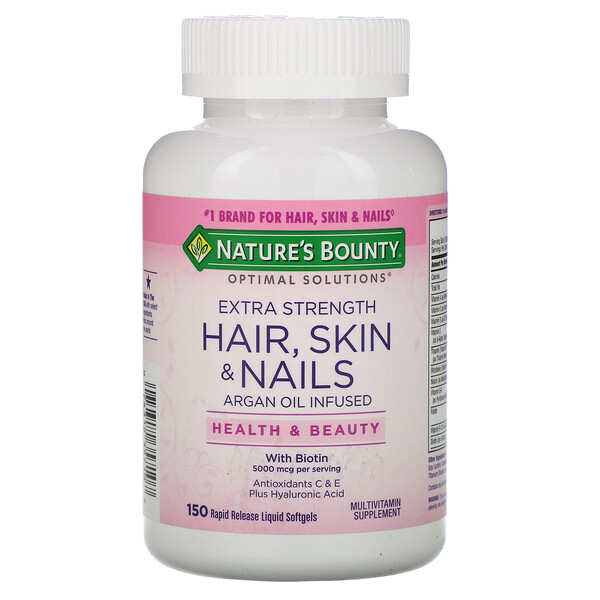 Optimal Solutions, Extra Strength Hair, Skin & Nails, 150 Rapid Release Liquid Softgels