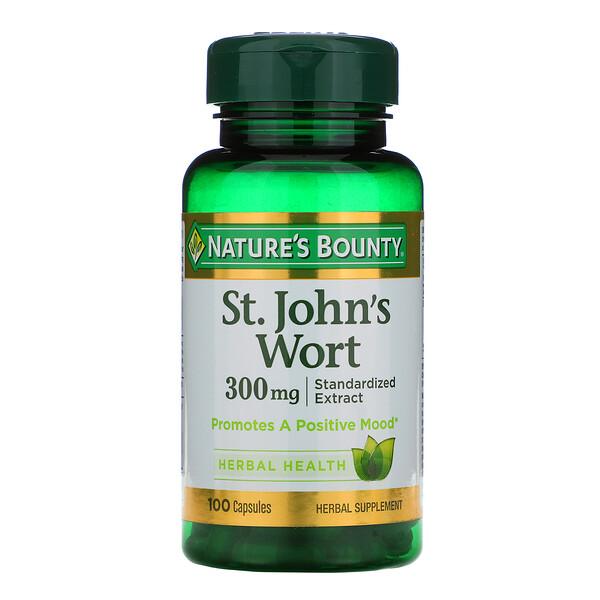 St. John's Wort, 300 mg, 100 Capsules