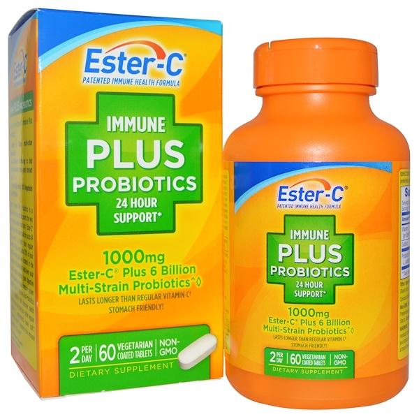 Nature's Bounty, Immune Plus Probiotics, 1000 mg, 60 Tablets (Discontinued Item)