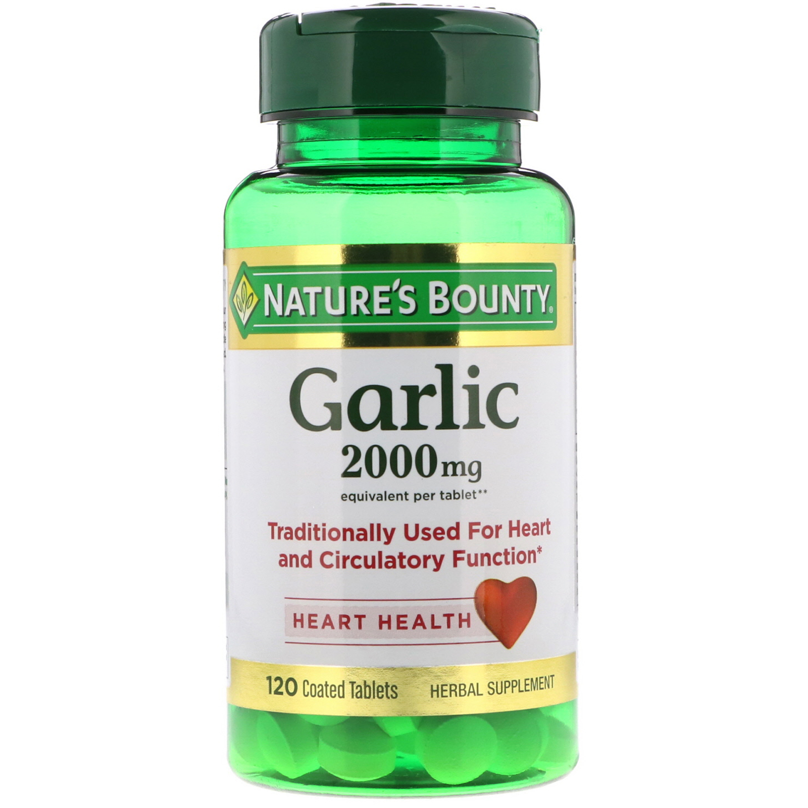 nature's bounty, garlic, 2,000 mg, 120 coated tablets - iherb