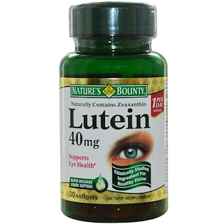 Nature's Bounty, Lutein, 40 mg, 30 Rapid Release Softgels
