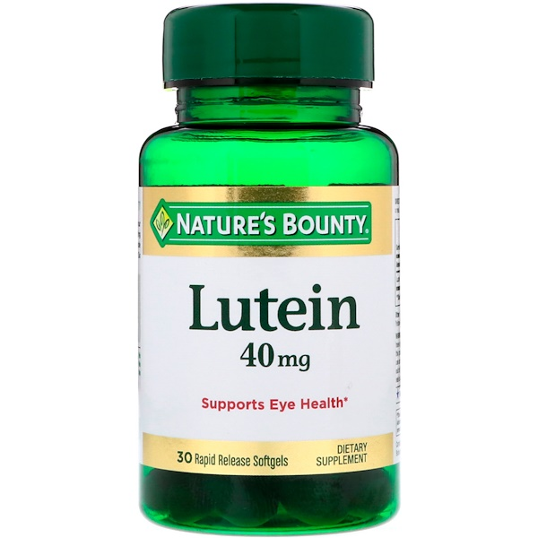 Lutein, 40 mg, 30 Rapid Release Softgels