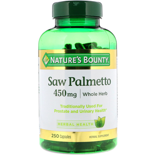 Saw Palmetto, 450 mg, 250 Capsules