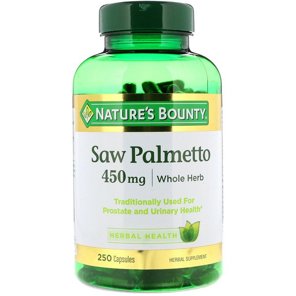 Nature's Bounty, Saw Palmetto, 450 mg, 250 Capsules