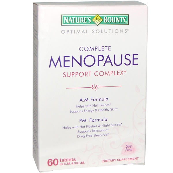 Nature's Bounty, Optimal Solutions, Complete Menopause Support Complex, 60 Tablets (Discontinued Item)