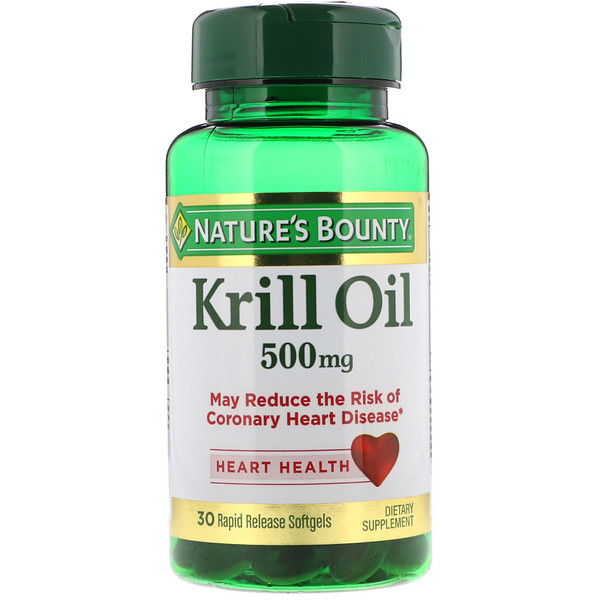 Krill Oil, 500 mg, 30 Rapid Release Softgels