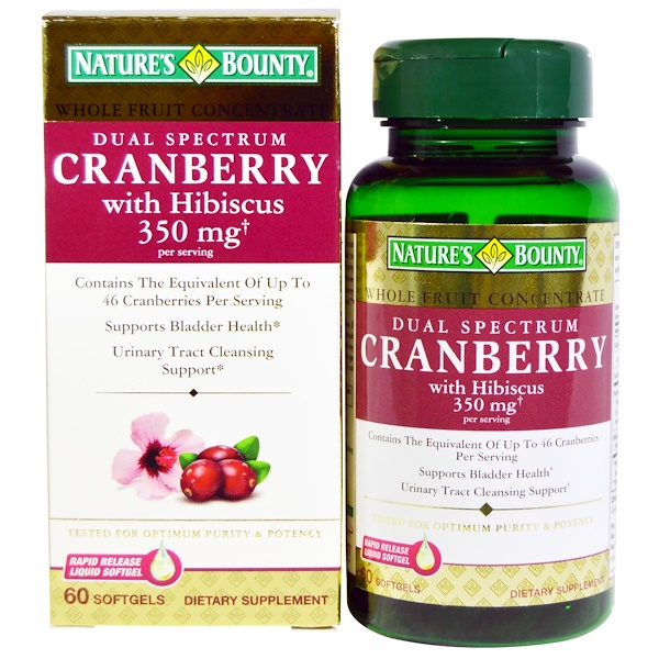 Nature's Bounty, Cranberry, with Hibiscus, Dual Spectrum, 60 Softgels