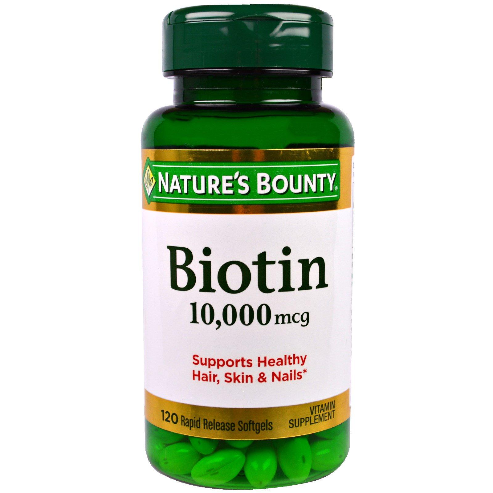biotin bounty nature mcg softgels vitamins rapid release beauty natures supplements hair kardashian iherb growth health zoom courtesy