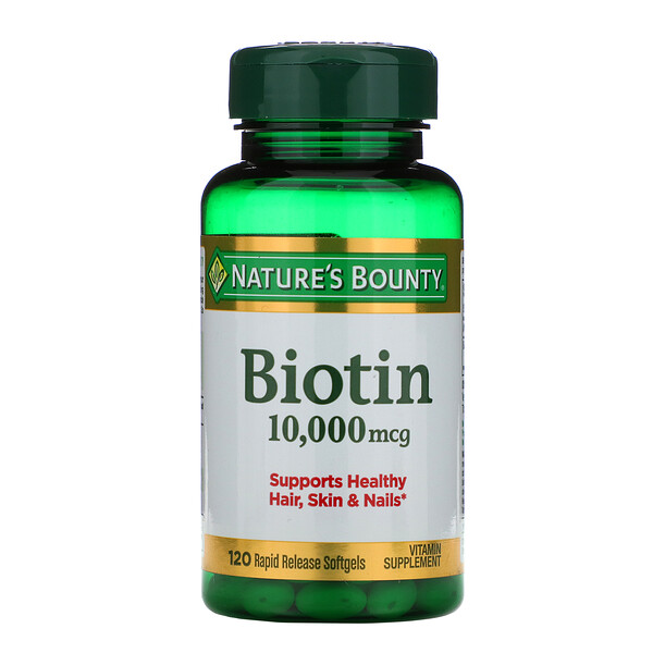 Nature's Bounty, Biotin, 10,000 mcg, 120 Rapid Release Softgels