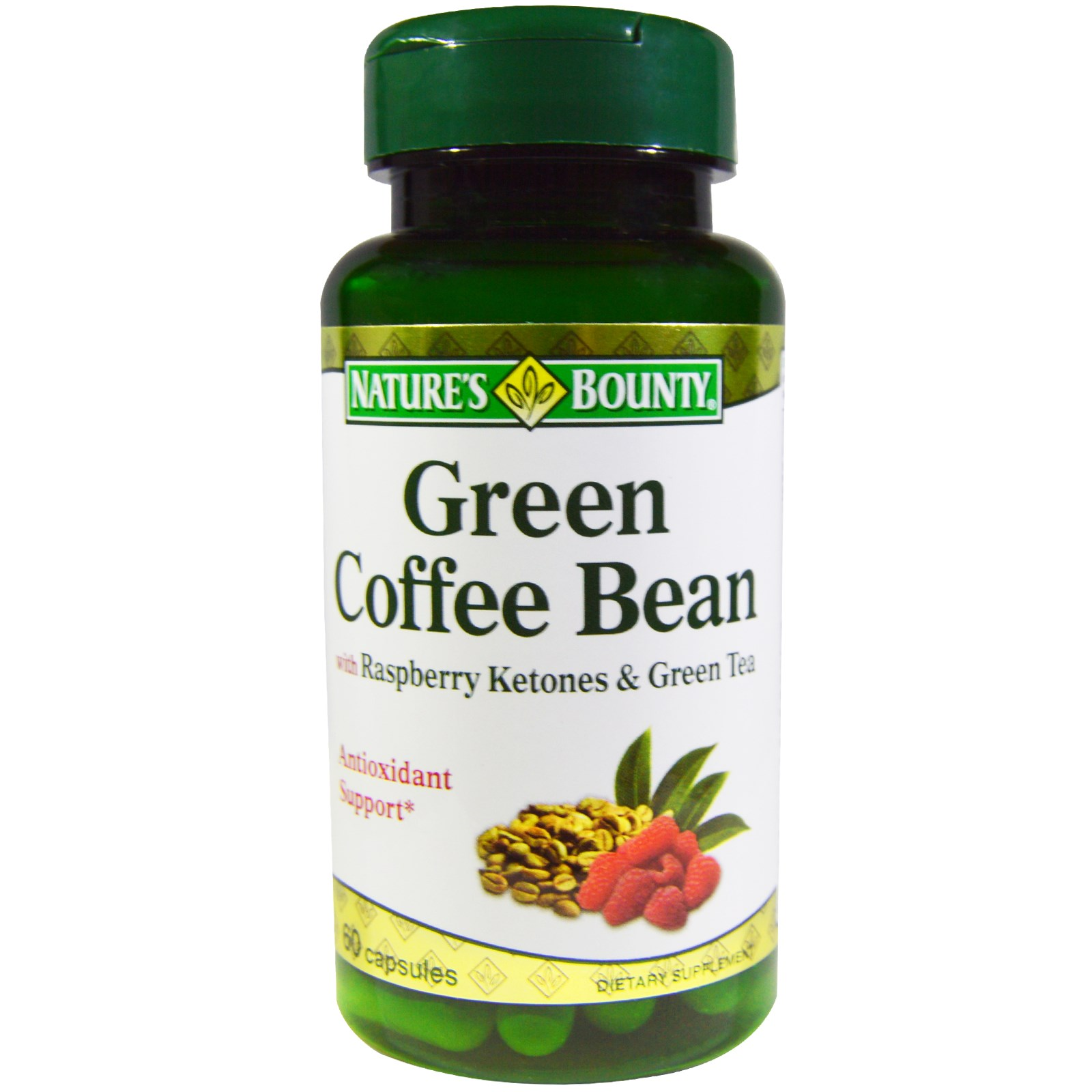 Nature's Bounty, Green Coffee Bean with Raspberry Ketones ...