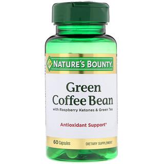 Nature's Bounty, Green Coffee Bean with Raspberry Ketones & Green Tea, 60 Capsules