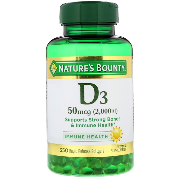 D3, 50 mcg (2000 IU), 350 Softgels