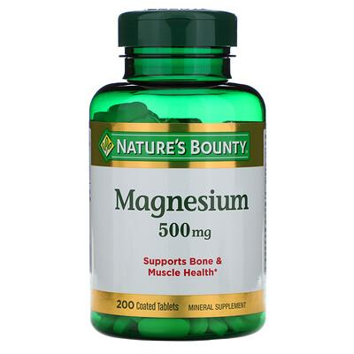 Купить Nature's Bounty Магний, 500 мг, 200 таблеток в оболочке