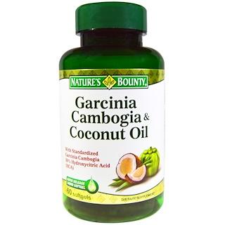 Nature's Bounty, Garcinia Cambogia & Coconut Oil, 60 Softgels
