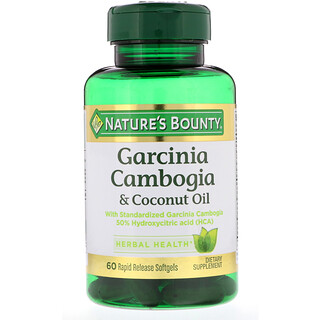 Nature's Bounty, Garcinia Cambogia & Coconut Oil, 60 Rapid Release Softgels