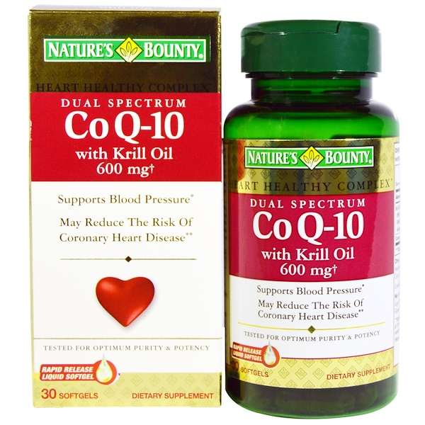 Nature's Bounty, Co Q-10, with Krill Oil, 30 Softgels (Discontinued Item)