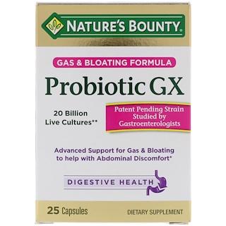 Nature's Bounty, Probiotic GX, Gas & Bloating Formula, 25 Capsules
