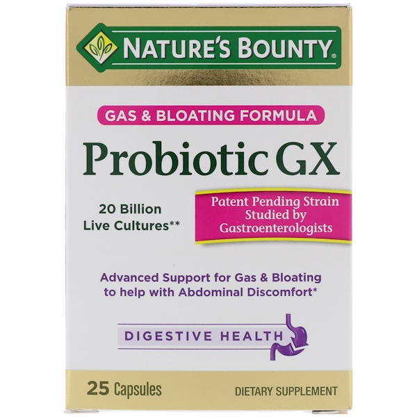 Nature's Bounty, Probiotic GX, Gas & Bloating Formula, 25 Capsules (Discontinued Item)