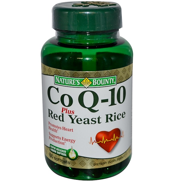 Nature's Bounty, Co Q-10 Plus Red Yeast Rice, 60 Softgels (Discontinued Item)