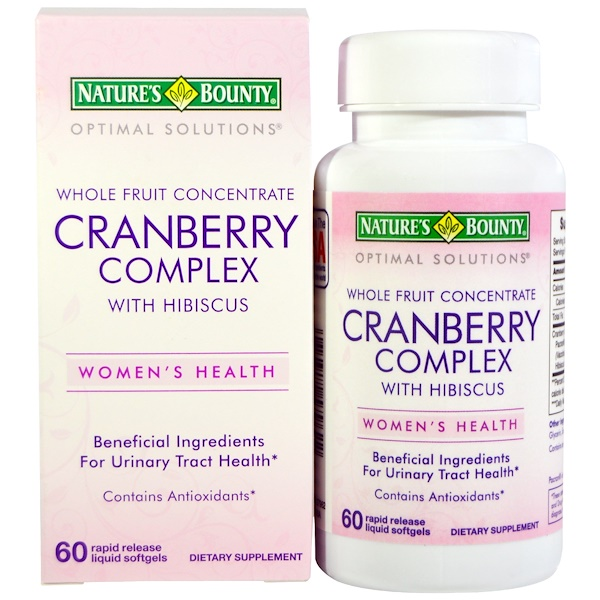 Nature's Bounty, Cranberry Complex, with Hibiscus, Whole Fruit Concentrate, 60 Softgels (Discontinued Item)