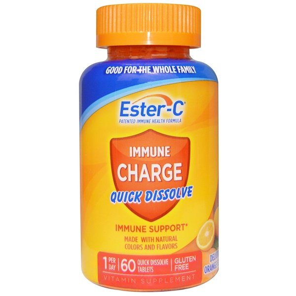 Nature's Bounty, Immune Charge, Quick Dissolve, Delicious Orange Flavor, 60 Tablets (Discontinued Item)