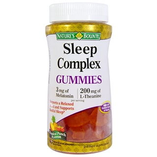 Nature's Bounty, Sleep Complex Gummies, Tropical Punch Flavor, 60 Moon & Star Shaped Gummies