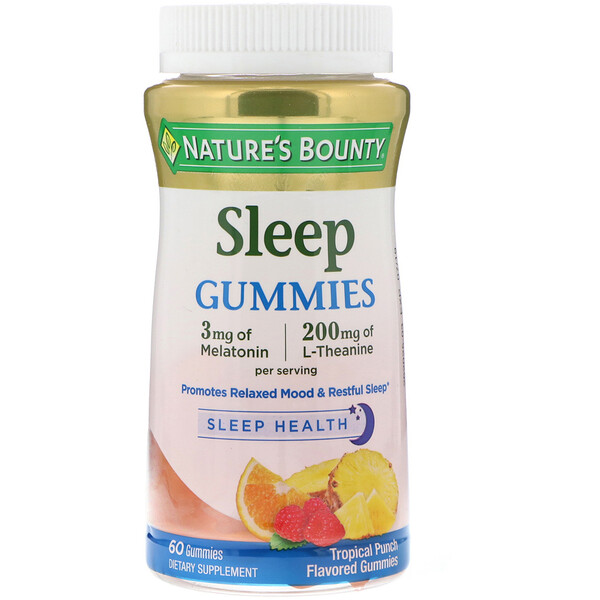 Sleep Gummies, Tropical Punch Flavored, 60 Gummies