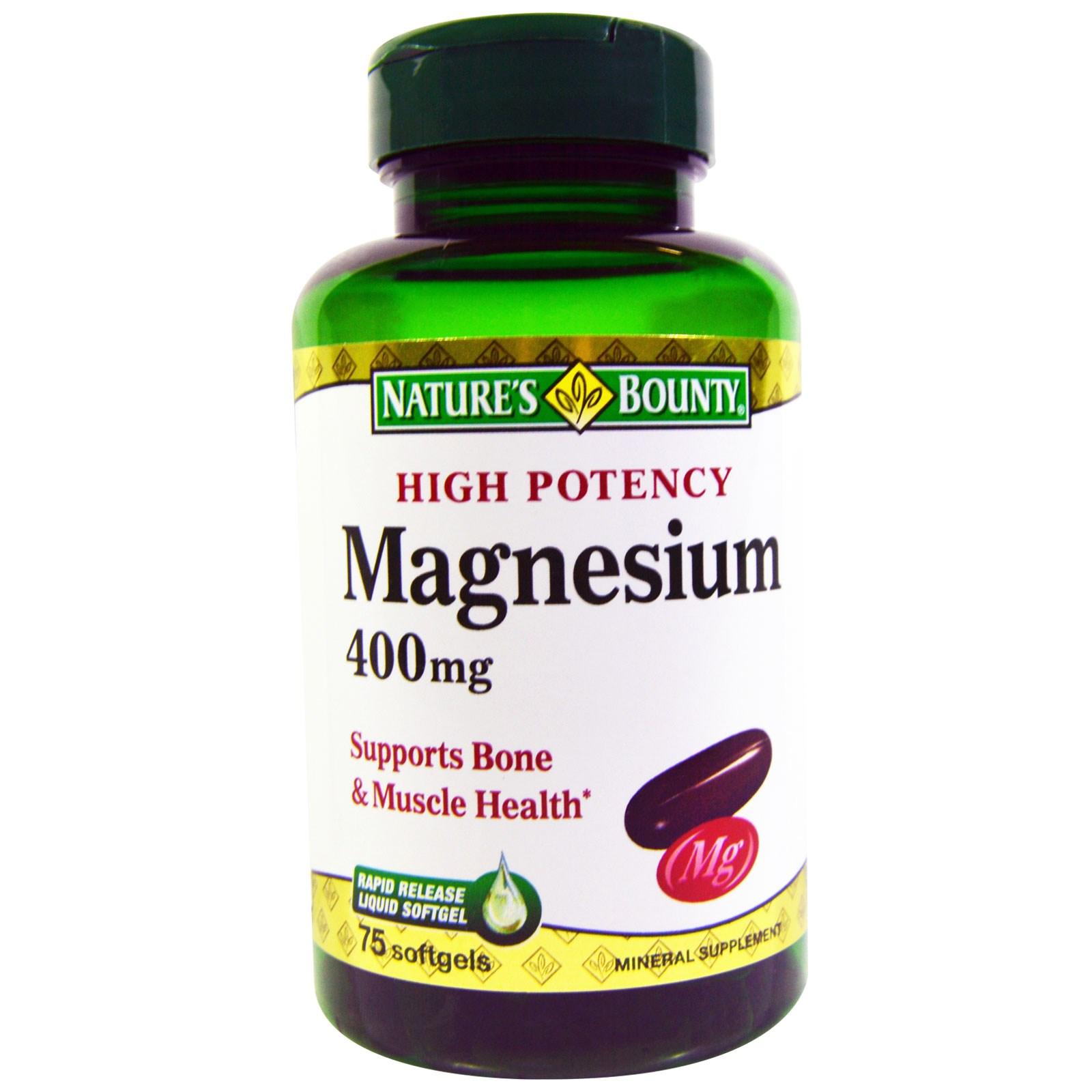 bounty magnesium nature mg 400 softgels iherb natures evitamins tablets