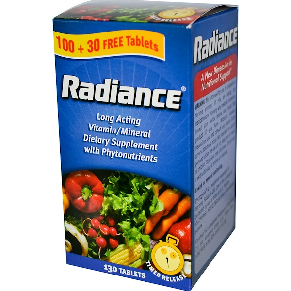 Nature's Bounty, Radiance, Long Acting Vitamin/Mineral, 130 Tablets (Discontinued Item)