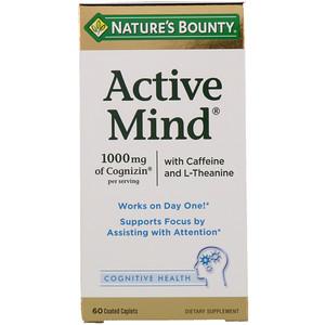 Натурес Баунти, Active Mind, 1000 mg, 60 Coated Caplets отзывы