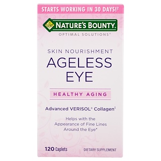 Nature's Bounty, Optimal Solutions, Ageless Eye Skin Nourishment, 120 Caplets