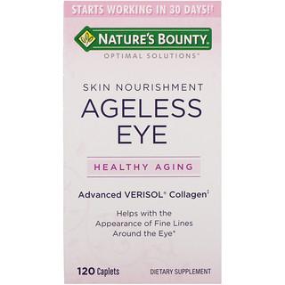 Nature's Bounty, Soluções Ideais, Nutrição Para Pele e Olhos Eternos, 120 Cápsulas