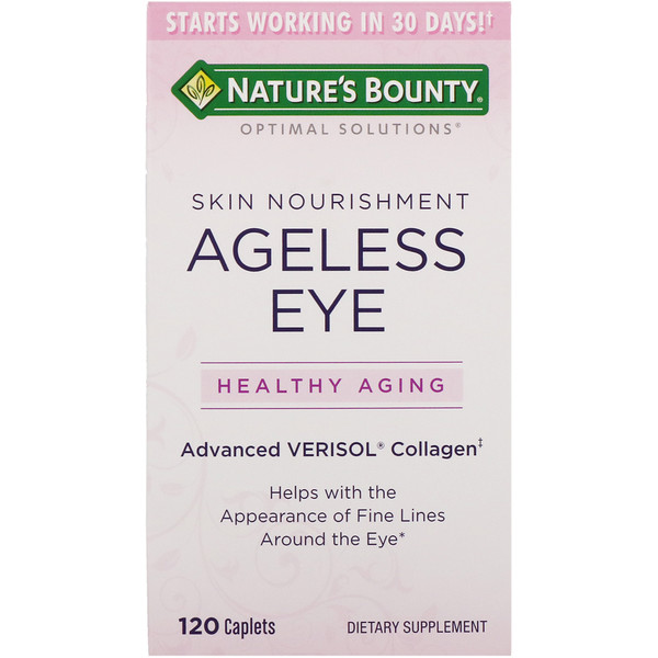 Nature's Bounty, Optimal Solutions, Ageless Eye Skin Nourishment, 120 Caplets (Discontinued Item)