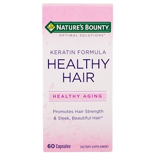 Nature's Bounty, Optimal Solutions, Healthy Hair Keratin Formula, 60 Capsules