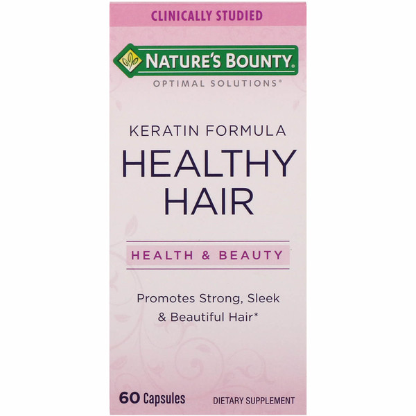 Nature's Bounty, Optimal Solutions, Healthy Hair Keratin Formula, 60 Capsules (Discontinued Item)