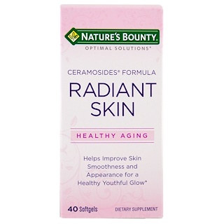 Nature's Bounty, Optimal Solutions, Radiant Skin Ceramosides Formula, 40 Softgels