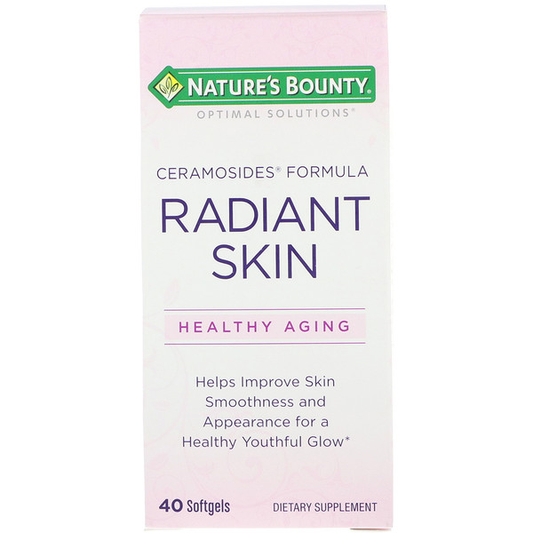 Nature's Bounty, Optimal Solutions, Radiant Skin, Ceramosides Formula, 40 Softgels