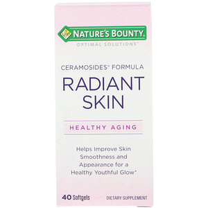 Натурес Баунти, Optimal Solutions, Radiant Skin, Ceramosides Formula, 40 Softgels отзывы