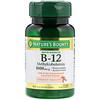 Nature's Bounty, B-12, натуральный вишневый вкус, 1000 мг, 60 быстрорастворимых таблеток